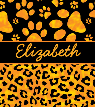 Leopard Spots with Paw Prints Personalize