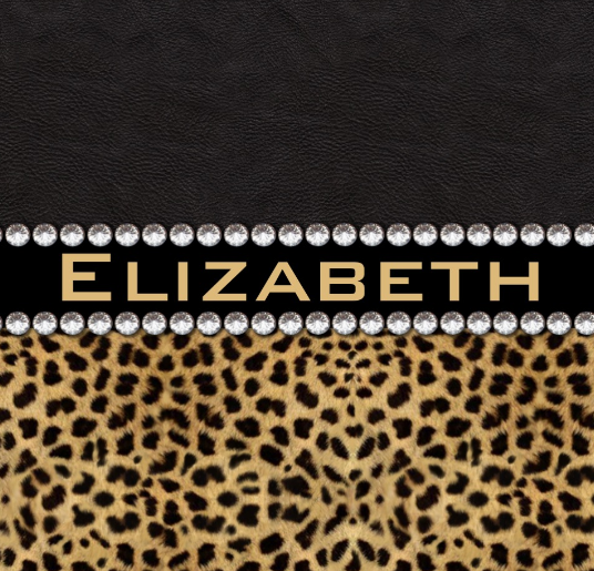Leopard Spot Rhinestone Diamonds Personalized Monogram
