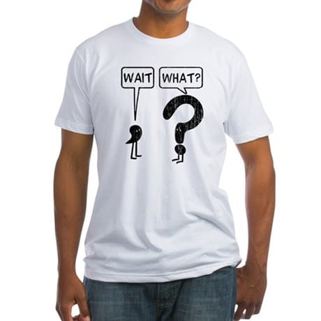 Wait, What? Grammar T-Shirts and Gifts