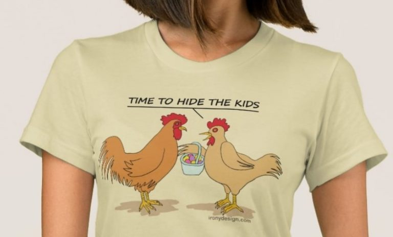 Funny Chicken ready for the Easter Egg Hunt T-Shirt