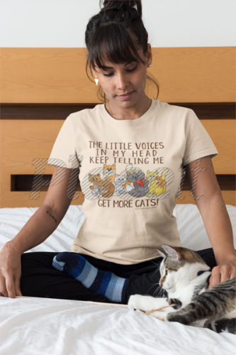 368c27de The Little Voices in My Head Keep Telling Me Get More Cats T-Shirts.